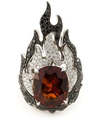 Garrard | Metallic 'fire Of London' Ring | Lyst