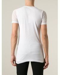 Unconditional White Fine Knit Layered T-shirt for men