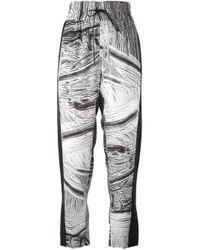 Helmut Lang | Black - 'method' Print Drawstring Trousers - Women - Silk/polyester/spandex/elastane - M | Lyst