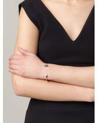 Delfina Delettrez - Metallic 'lips Piercing' Diamond Bracelet - Lyst