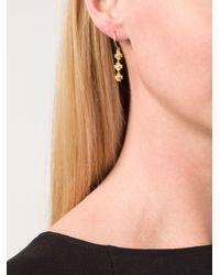 Marie-hélène De Taillac - Metallic Flower Pendant Earrings - Lyst