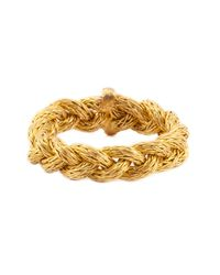 Marie-hélène De Taillac | Metallic Braided Ring | Lyst