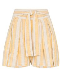 Shorts a righe Jola di Three Graces London in Natural