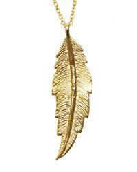 Leivan Kash   Metallic Feather Necklace   Lyst