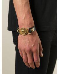 Versace | Black Medusa Bracelet for Men | Lyst
