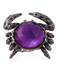 Stephen Webster | Metallic 'crab Crystal Haze' Ring | Lyst