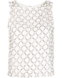 Top Amal con detalles Alice + Olivia de color White