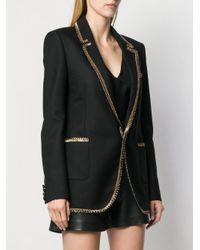 Saint Laurent Black Blazer mit Kontrastsaum
