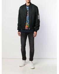 メンズ Versace Jeans エンブロイダリーロゴ スキニージーンズ Black