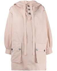 N°21 Pink Button Hooded Jacket