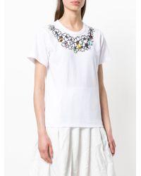Comme des Garçons - White Crystal Embellished T-shirt - Lyst
