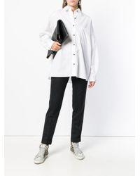 Pinko White Alfredo Popline Shirt