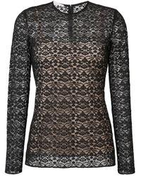 Blouse à design oversize Stella McCartney en coloris Black