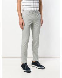 PT01 Gray Slim Leg Trousers for men