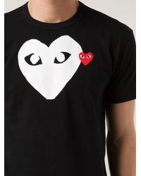 COMME DES GARÇONS PLAY Black Printed Heart T-shirt for men