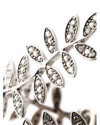 Ca&Lou - Metallic 'anne' Leaf Cuff - Lyst