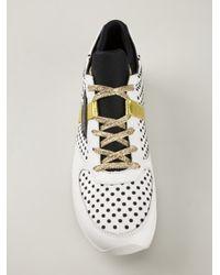 Dolce & Gabbana - White Polka Dot Sneakers - Lyst