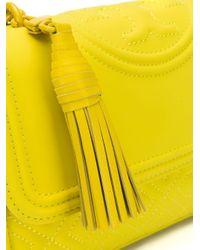 Bandolera pequeña Tory Burch de color Yellow