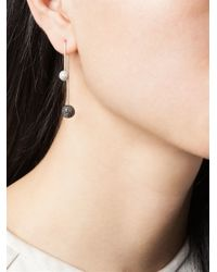 Asherali Knopfer - Black Interchangeable Diamond Bar Earring - Lyst