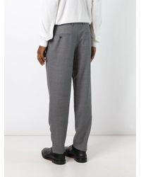 AMI Gray Straight Trousers for men
