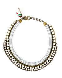Sveva Collection - Metallic 'priscella' Necklace - Lyst