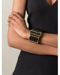 Alexander McQueen - Black Embellished Cuff - Lyst