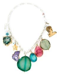 Katerina Psoma | Metallic Stone Charm Necklace | Lyst