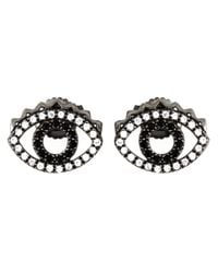 KENZO | Metallic 'eye' Earrings | Lyst