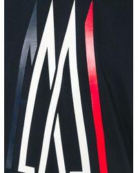 Moncler | Blue Logo Print T-shirt for Men | Lyst