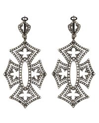Loree Rodkin | Metallic 'shadow Cross' Diamond Earrings | Lyst