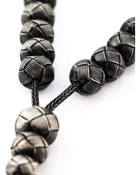 Monan - Gray Woven Beads Necklace - Lyst