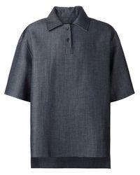 Yang Li Blue - Oversized Denim Polo Shirt - Men - Cotton/virgin Wool - 48 for men