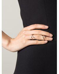 Delfina Delettrez - Metallic 'handroid' Diamond Ring - Lyst