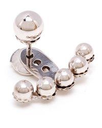 Yvonne Léon | Metallic Yvonne Léon 18kt White Gold Five Pearl Lobe Earring | Lyst