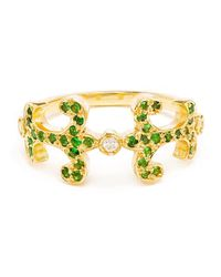 Sabine G | Green 18k Yellow Gold Tsavorite Oona Ring | Lyst