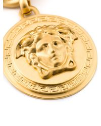 Versace | Metallic Medusa Medallion Necklace | Lyst
