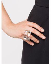 Monies White Coil Ring