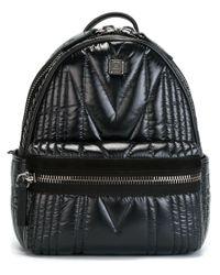 MCM - Black 'kissen' Backpack - Lyst