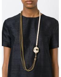 Lanvin - Multicolor 'ball Vita' Necklace - Lyst