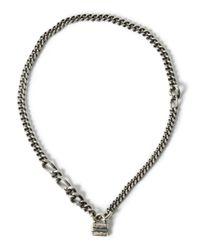Werkstatt:münchen - Metallic Padlock Chain Necklace - Lyst
