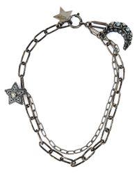Lanvin Black Star Pendant Necklace