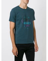 KENZO - Blue 'tiger' T-shirt for Men - Lyst