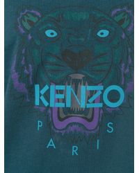 KENZO Blue 'tiger' T-shirt for men