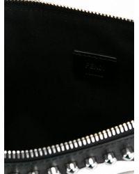 Fendi Black 'karlito' Clutch for men