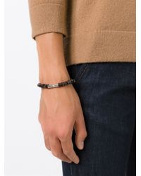Tateossian | Brown Beaded Bracelet for Men | Lyst