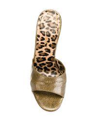 Dolce & Gabbana - Metallic Vintage Leather Mules - Lyst