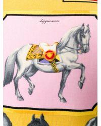 Versace Multicolor Horse Printed Gilet