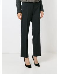Dolce & Gabbana - Gray High Waist Cropped Trousers - Lyst