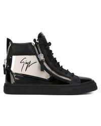 Giuseppe Zanotti - Black 'algeria' Hi-top Sneakers - Lyst