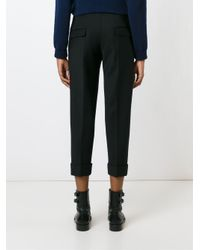 Neil Barrett - Black Cropped Tailored Trousers - Lyst